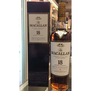 1996 The Macallan 18 Year Old Sherry Oak Single Malt Scotch Whisky,