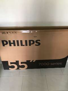 "Empty 55"" tv box"
