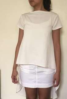 Hi-Lo Top white (mullet top)