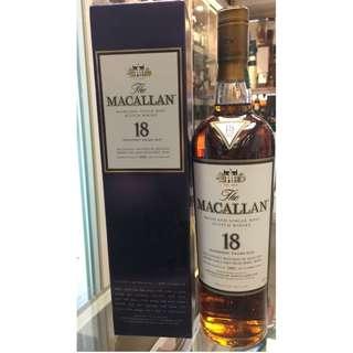1997 The Macallan 18 Year Old Sherry Oak Single Malt Scotch Whisky,