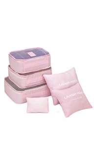 Luggage organizer (pink) packing cubes