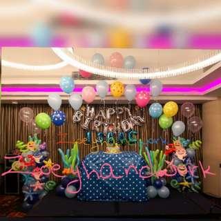 Baby shark themed balloon decoration - new @ zoeyhandiwork