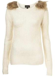 Topshop Ivory Nude Knit Pullover