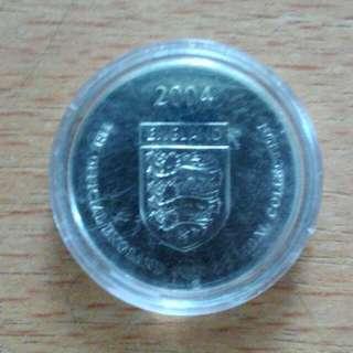 2004 England Silver Nicky Butt Token