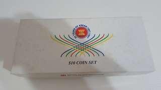 30 yrs Asean $10 coin set