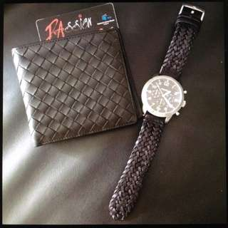 Bottega strap fossil watch and wallet