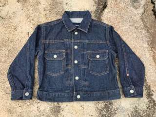Uniqlo trucker denim jacket type ii for kids