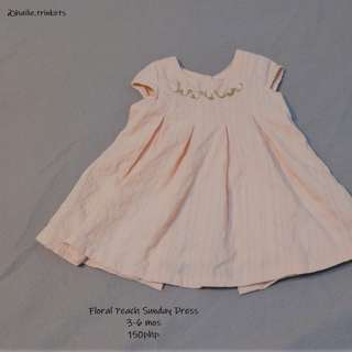 Peach Floral Sunday Dress