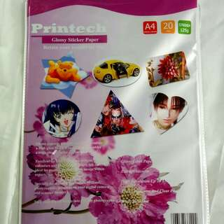 Kertas Print photo/Sticker (Glossy)  A4