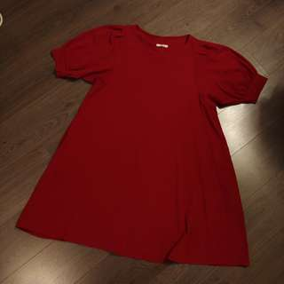 Burgundy dolly dress (2 styles)