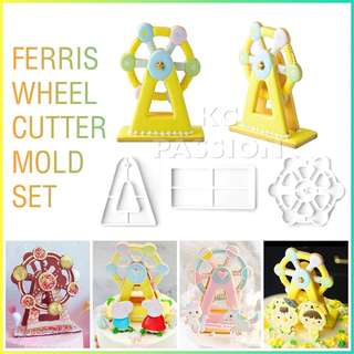 🎡 FERRIS WHEEL CUTTER MOLD TOOL Cake Decorating Tool for Cookies • Fondant Cake & Cupcake • Bread Dough • Pastry • Sugar Craft • Jelly • Gum Paste • Polymer Clay Art Craft •