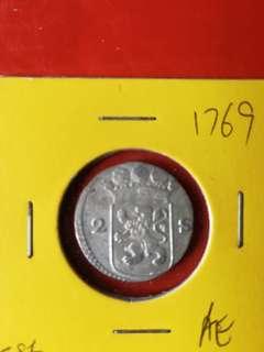 Netherland 2 striver silver 1769 unc