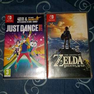 Nintendo Switch Games BOTW Just Dance