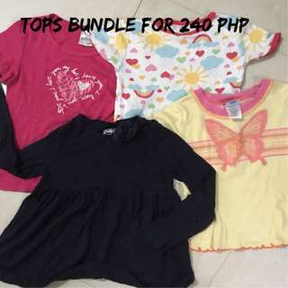take all tops 3-4 yrs old