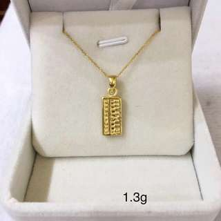 足金金飾 999硬金 財源滾滾算盤 足金吊墜 (1.3g) Gold Pendant Only