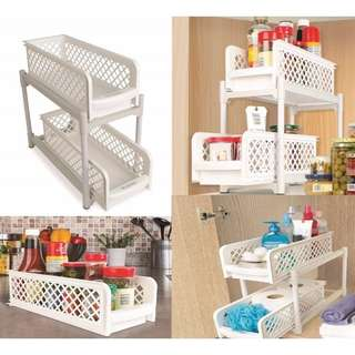Portable Basket Drawer Kitchen Bathroom Rack Organizer