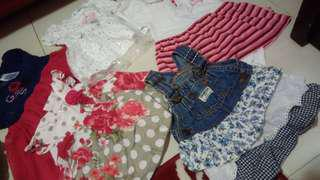 Blessing girls baby clothes from ard 3mths to 12mths