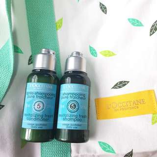 LOCCITANE REVITALIZING FRESH TRAVEL SET