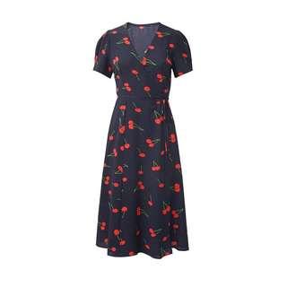🍒 wrap around dress freesize