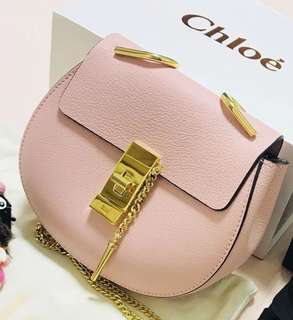 Chloé Chloe Drew Shoulder Bag 櫻花🌸粉紅色皮包袋