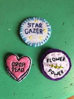 Handmade Pins!