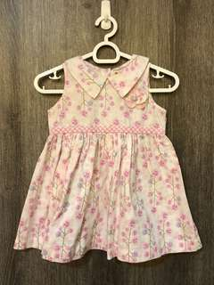 Peppermint pink floral shirt, size 2T
