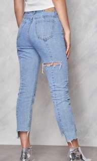 Shop Copper Light Washed Ripped Jeans (Road To Nowhere)