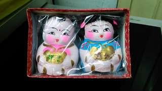 Vintage Boy Girl Figurines.