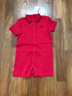 Polo Ralph Lauren Red Romper 24months