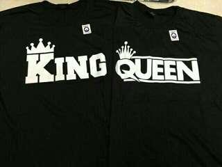 King & Queen Couple Shirt (PAIR)