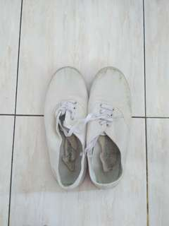Cotton on white shoes