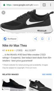WORN ONCE AUTHENTIC NIKE AIRMAX THEA
