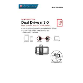 *BRAND NEW* SanDisk Ultra 128GB Dual Drive m3.0 for Android Devices and Computers