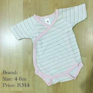 [3 for RM10] Pink Striped Baby Romper