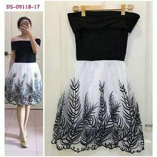 Korean Off-shoulder Dress