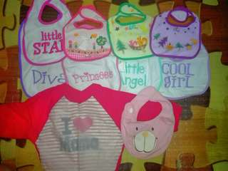 Bibs and Cloth Diaper (All for 600)