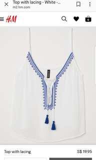 🚚 H&M lace up top