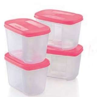 Tupperware Freezer Mate Junior II (4) 290ml - Pink