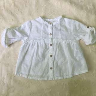Zara white polo 6-9M