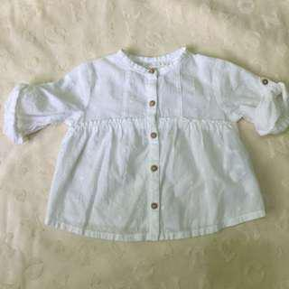 Zara white polo 6-9M