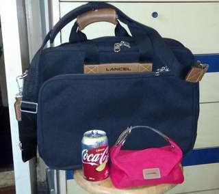 LANCEL旅行包 + 小收納包