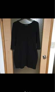 🚚 黑色七分袖洋裝