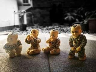 Satu set isi 5 pajangan keramik bayi dari China