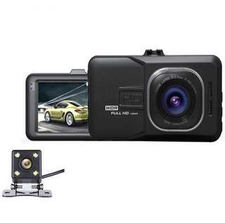 Full HD1080 Dual Lens Car Recorder DVR- Free 16GB memory card