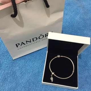 Pandora Bracelet (Angel's Wing Charm)