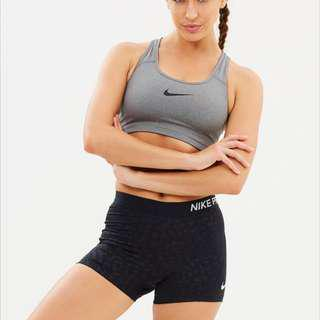 Nike Grey Swoosh Sports Bra