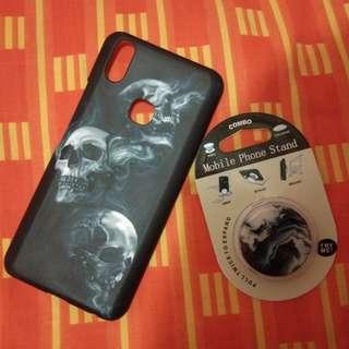 Handphone Case For Vivo V9 + Glossy Popsocket