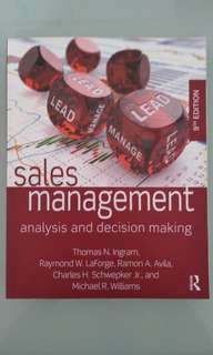 Sales Management 9th Edition