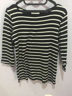 Original zara striped long t-shirt