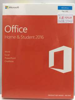 New Unboxed - Microsoft Office 2016 Home
